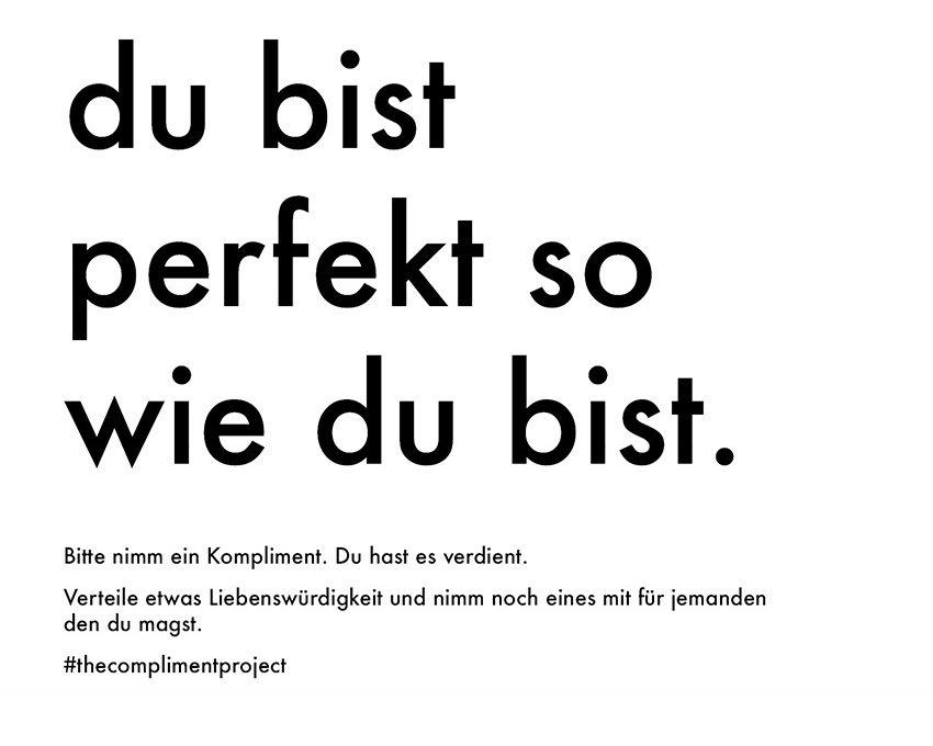 Fundstücke - Komplimente to go - kultur3000.schön gesagt